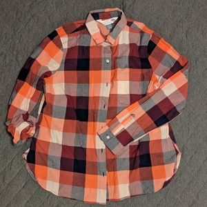 Old Navy Plaid Button-down Shirt NWT